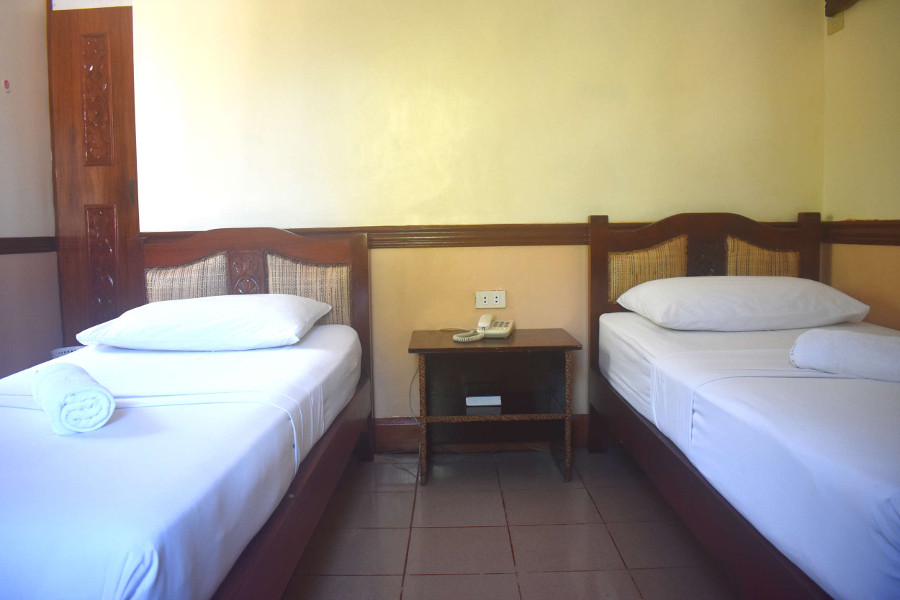 twin room in sustainable boracay resort